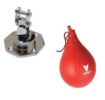 Ultra Pro Stainless Steel Boxing Bag Swivel AND Punching Speed Bag Red Vinyl