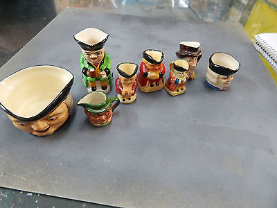 Toby Jugs x 8 various characters and manufactures