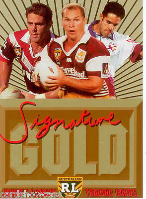1996 Dynamic Rugby League Series 3 Signature Gold Promo Card (1)