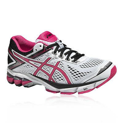 Asics GT-1000 4 Womens White Pink Support Running Road Sports Shoes Trainers