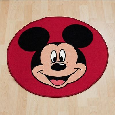 Mickey Mouse Geformt Bodenteppich Kinder Rot 100% Offiziell