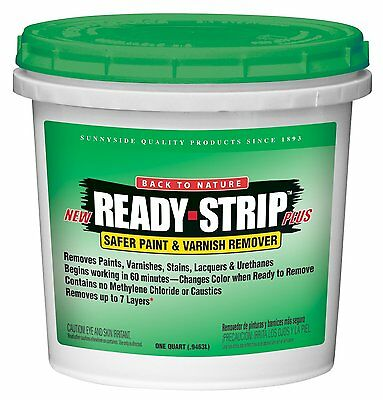 Sunnyside Corporation 65832 Ready-Strip Safer Paint and Varnish Remover, Quart
