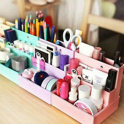 DIY Paper Board Desk Decor Storage Box Stationery Cosmetic Makeup Organizer New