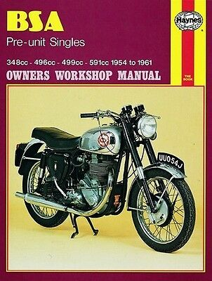 Haynes Manual BSA Pre-Unit Singles (54 - 61) - 0326