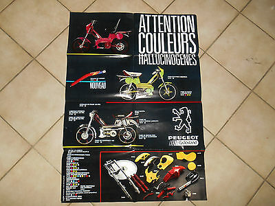 Ancienne Affiche Poster Peugeot MVL accessoire Cyclostand Racing Mobylette