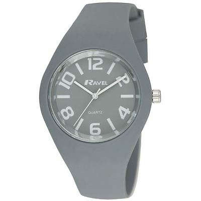 Ravel Unisex Large Summer Days Silicon Watch Grey R1801.13.1A