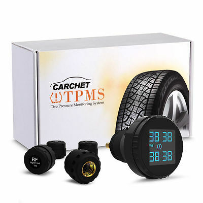 TPMS Tyre Pressure Monitoring System Wireless 4 Tyre Sensors for Car Auto New