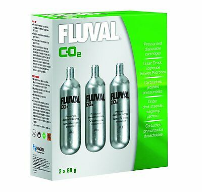 Fluval 88g-CO2 Disposable Cartridges - 3-Pack (model number: A7547) (BRAND NEW)