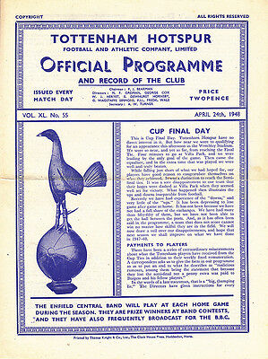 1947/48  Tottenham v Newcastle