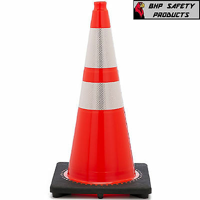 "28"" Inch Orange Safety Traffic Cone W/ 3M Reflective Collars Jbc Revolution"