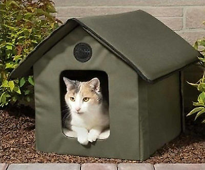 K&H Outdoor Thermo Heated Kitty House w/Removable Lectro-Soft Heated Floor NEW
