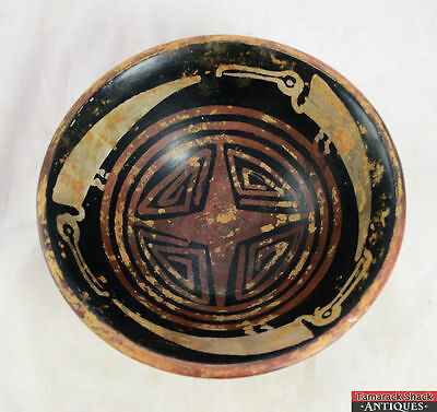 ATQ Narino Native American Pre-Columbian Pedestal Footed Avian Motif Bowl L4X