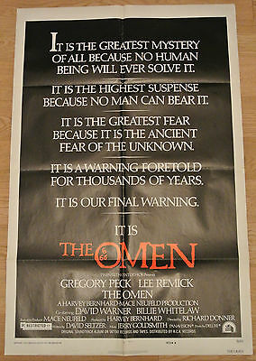 The Omen 1976 - Original American One Sheet Movie Poster
