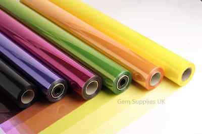 80cm Coloured Tinted Cellophane Rolls Florist Quality Gift Wrap Hamper Wrapping