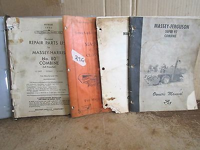 Massey harris clipper combine parts manual 4000 picclick massey ferguson harris 80 410 super 92 clipper combine manual lot of manuals fandeluxe Image collections