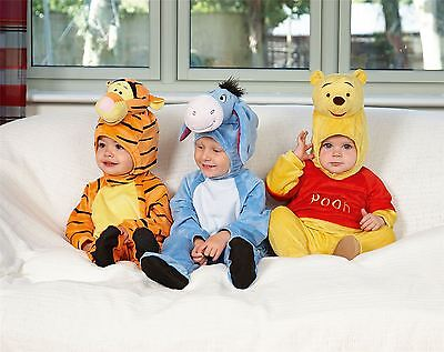 Disney Baby Winnie the Pooh Romper with Hood 12-18mths - Babies Costume Outfit