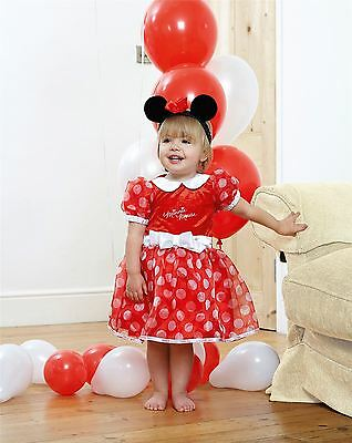 Disney Baby Minnie Mouse Red Dress 18-24mths - Toddler Babies Costume Outfit