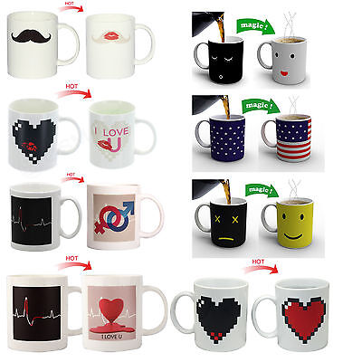 Heat Color Changing Mug Morning Color Cup Coffee Magic Tea Hot Cold Sensitive