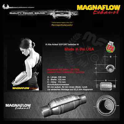 MF Magnaflow Stainless steel Sports cat 200 Cell 63,5mm/2.5 Inch Metall catalyst