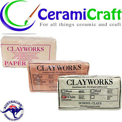 Clayworks Earthenware Clay 10kg Pottery Hand Building Throwing