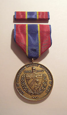 1898  Army Cuba Occupation Military Medal with RIBBON