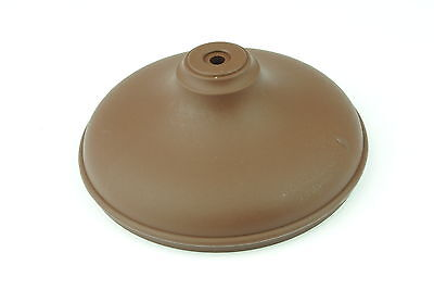 """Linic 6 x Dark Brown 4"""" Round Plastic Fence Post Top Cap Finial UK Made GT0040"""