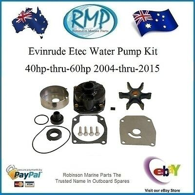 A Nice New Water Pump Kit With Housing Evinrude Etec 40hp-thru-60hp # R 5006511