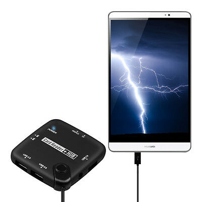 kwmobile 7 IN 1 MICRO USB CARD READER FÜR HUAWEI MEDIAPAD M2 8.0 ADPATER 2.0 SD