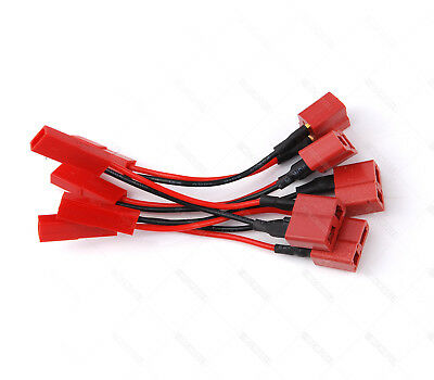 5 PCS JST Female to Deans Female Connector Plug For RC BEC Battery 34#