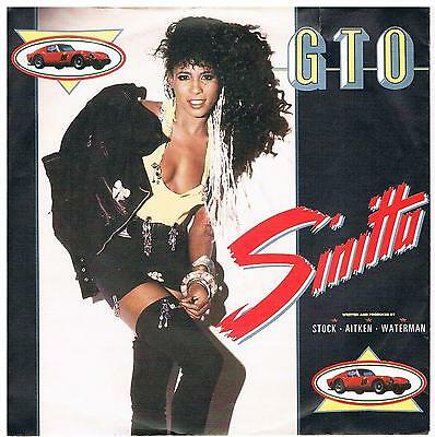 "Sinitta-G.T.O. + G.T.O.(Instrumental)7"" Single von 1987"