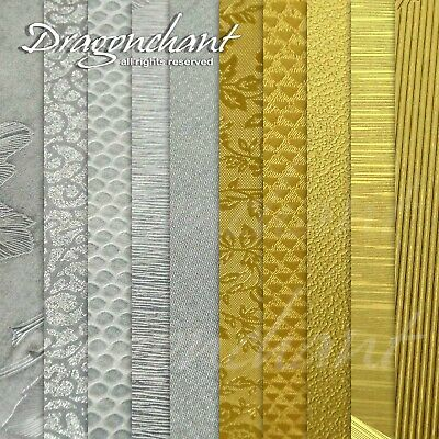 Pack of 5 or 10 A4 FOIL Textured 120gsm Craft Paper Cardmaking Metallic Finish