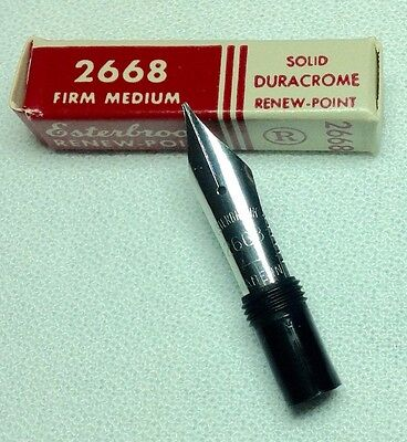 Esterbrook Nib Renew-Point 2668 Firm Medium General Writing New In Box Product