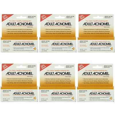 6 Pack Adult Acnomel Tinted Cream Acne Medication - 1.30 oz (36 g) Each
