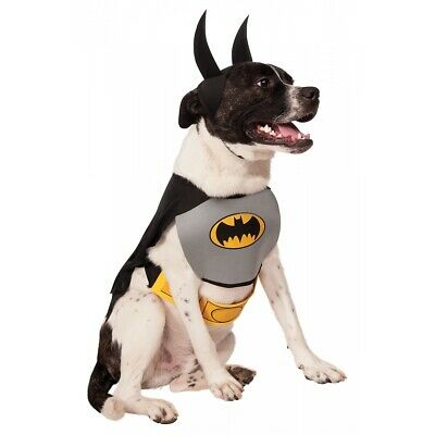 Batman Dog Costume Pet Superhero Halloween Fancy Dress