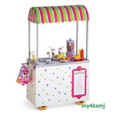 American Girl CAMPUS SNACK CART set for Dolls ice cream play pcs + SAME DAY SHIP