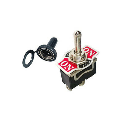 Heavy Duty 20A Toggle Switch SPDT On/Off/On Momentary 3 Term Waterproof Boot