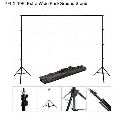 10Ft Extra Wide Photography Studio Kit Back Drop Ground Muslin Chromakey Stand