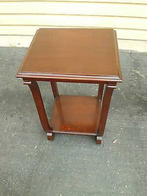 50776  Antique HATHAWAY ??  Empire Nightstand End Table Stand