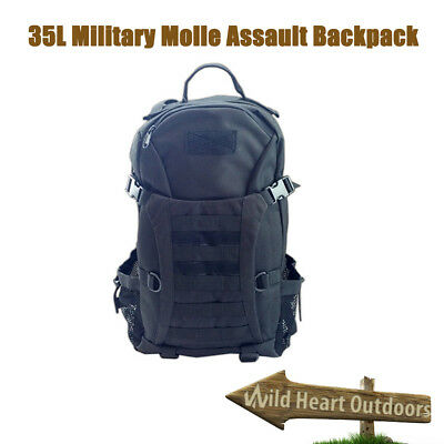35L SWAT Molle Army Tactical Military Style Assault bag Backpack Black BNE Stock