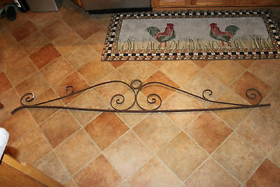 Vintage Wrought Iron Architectural Salvage Garden Trellis-6' Long-Curves-LQQK