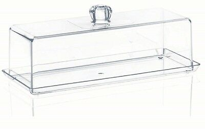Acrylic Loaf Cake Box High Quality counter display Removable lid clear