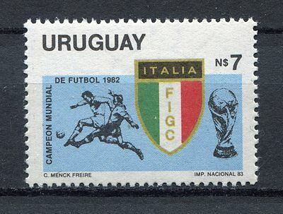 s5895) URUGUAY 1983 MNH** World Cup Football'82 - C.M. Calcio 1v.-WINNER