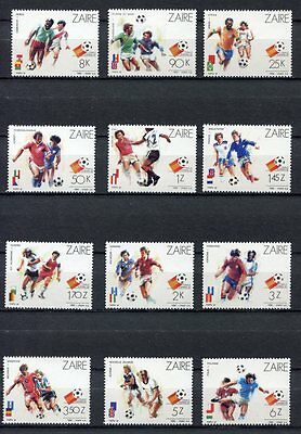 s5909) ZAIRE 1982 MNH** WC Football'82 - CM Calcio 12v.