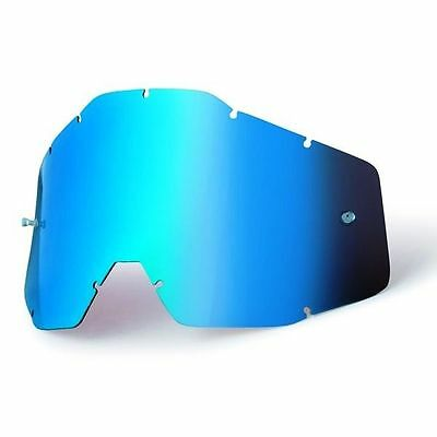 Goggle Shop MX Motocross lens for 100% - Mirror Blue