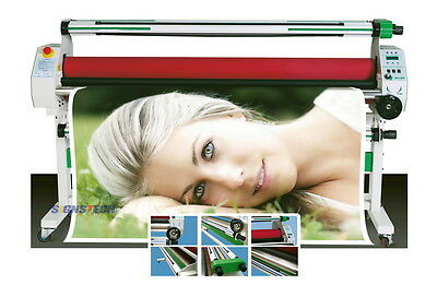 "1520mm 60"" Hot Cold Laminator Roll Laminating Heat Assistance,Auto Take Up"