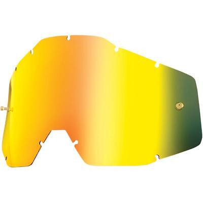 Goggle Shop MX Motocross lens  for 100% - Mirror Gold
