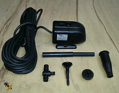 Lotus 800 Pond Pump Submersible Water Fountain Outdoor Feature 10M Cable New