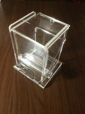 Clear Restaraunt Acrylic toothpick roller dispenser / Holder  NEW  Toothpicks