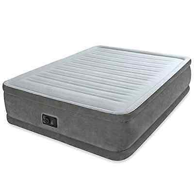 Air Bed Mattress With Built In Electric Pump Intex Comfort Plush Queen Airbed