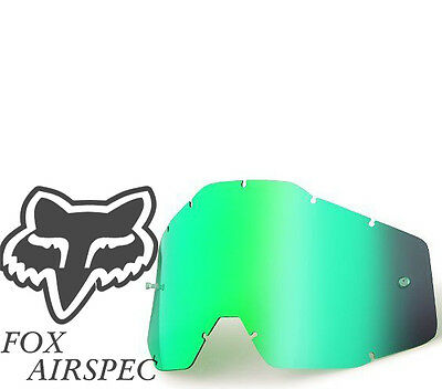 Goggle Shop MX Motocross lens  for Fox: Airspec - Mirror Green